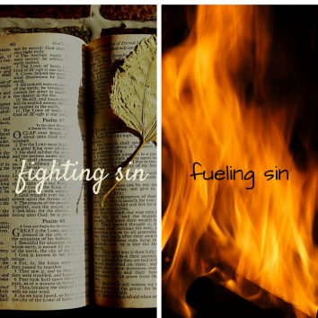 fighting sin...